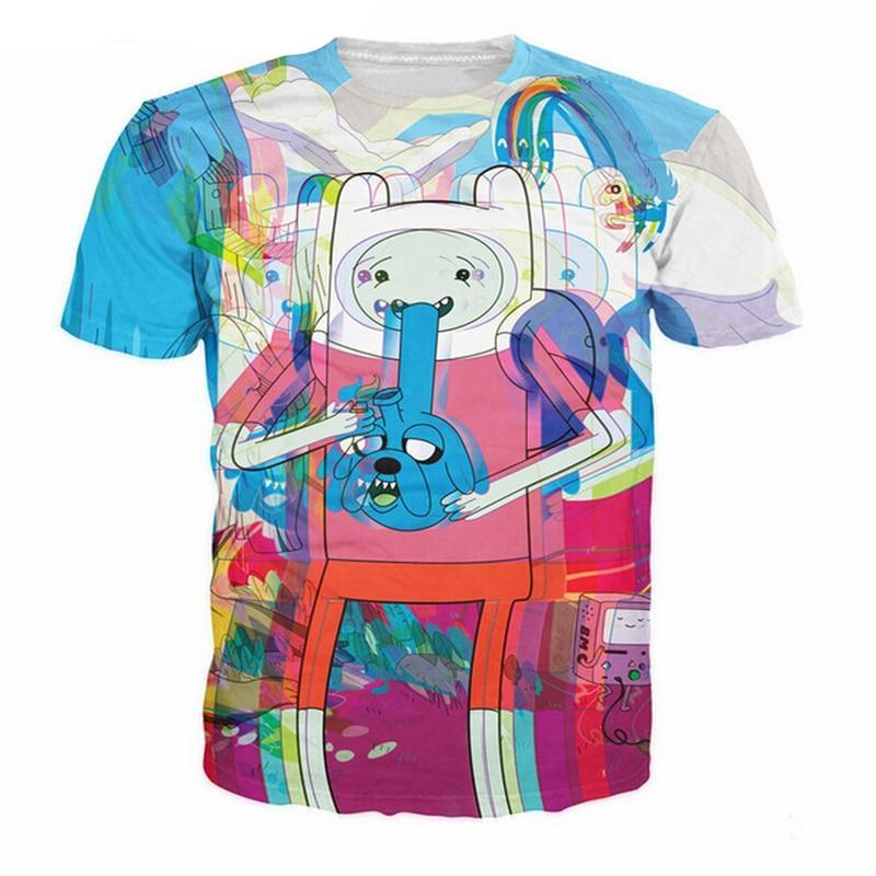 Vaporwave Glitch Adventure Time Aesthetic Tee