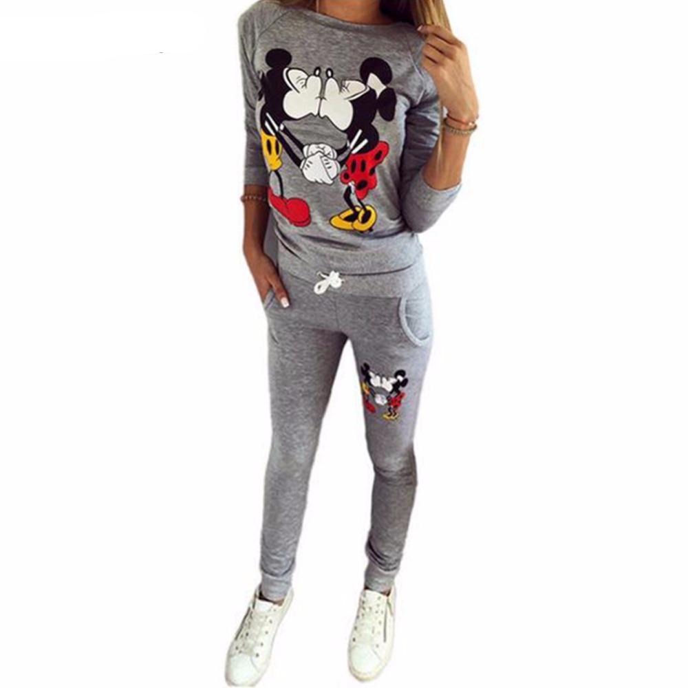Mickey Mouse Women Casual Sportswear long-sleeved Suit
