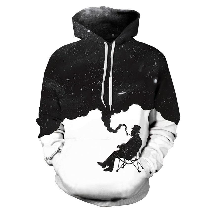Smoke Cloud Thinkingman Sweatshirt Streetwear Hoodie Allover Print