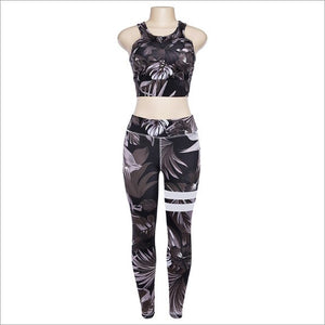 Another Flowers Design Sporting Suit Women's Two Piece Tracksuit Leggings And Tops - BernardoModa