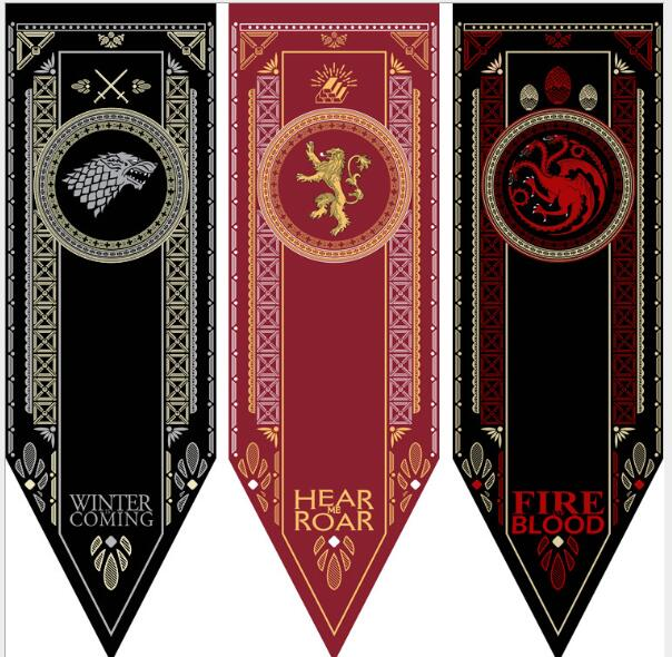 Game Of Thrones Banner Flags of All Houses - BernardoModa