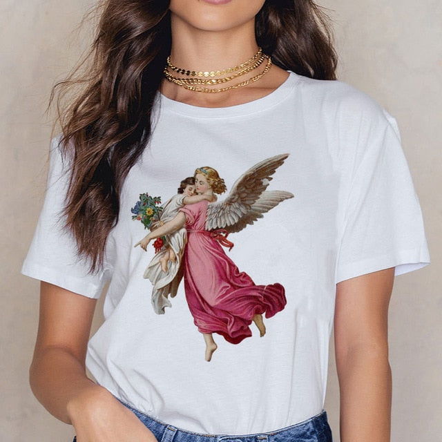 Angel 90s Fashion Aesthetic Harajuku Tee - BernardoModa