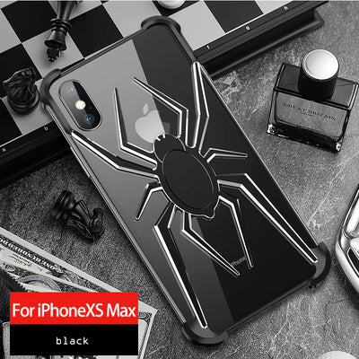 spider The element stents for Apple iPhone X XS Max Case Cover Coque iPhone 11 Pro Max  Xr 8 7 6 6s Plus Luxury style shockproof