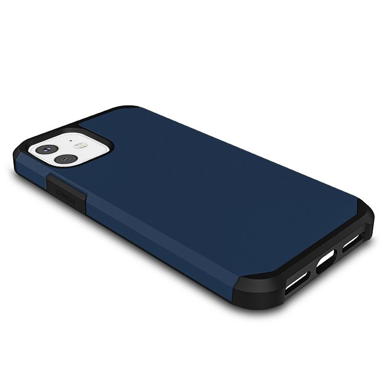 Casenne iPhone Case Navy blue Slim Armor Combo Case