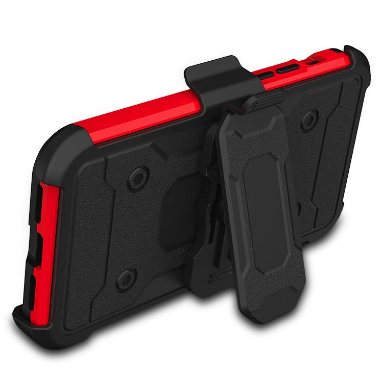 Warrior Tough Armor With Holster Bright Red + Black