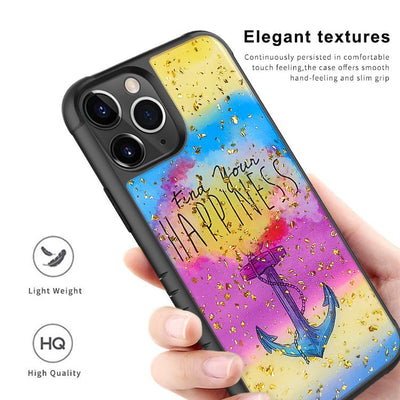 Ultra Thin Goldleaf Crystal Clear Transparent Gel TPU Cases For iPhone 11 Pro Max D