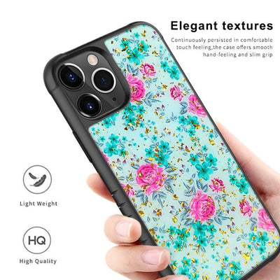 Ultra Thin Goldleaf Crystal Clear Transparent Gel TPU Cases For iPhone 11 Pro Max E