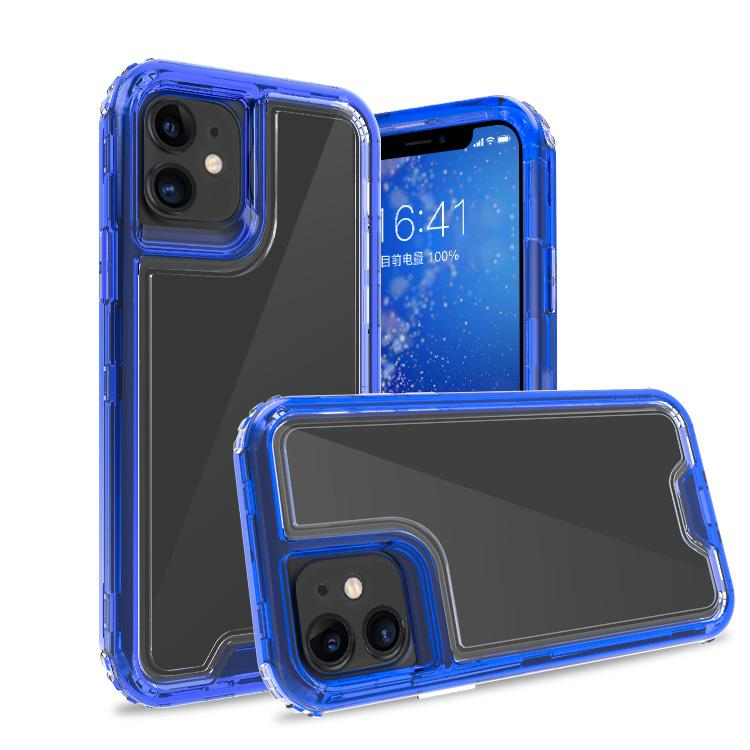 Clear Dark Blue iPhone 11 Colorful Combo Clear Case