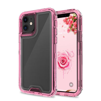 Clear Pink iPhone 11 Colorful Combo Clear Case