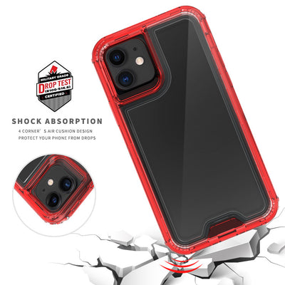 Casenne Clear Red iPhone 11 Colorful Combo Clear Case