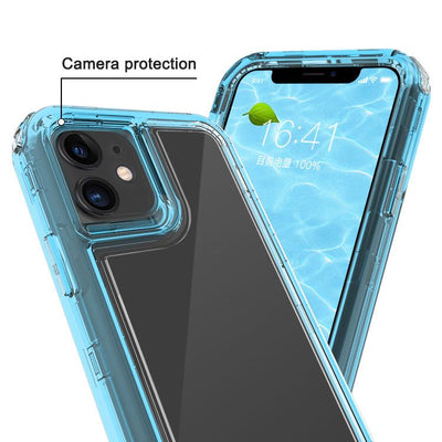 Clear Apple Blue iPhone 11 Colorful Combo Clear Case