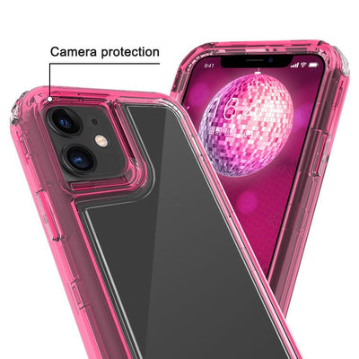 Clear Hot Pink iPhone 11 Colorful Combo Clear Case