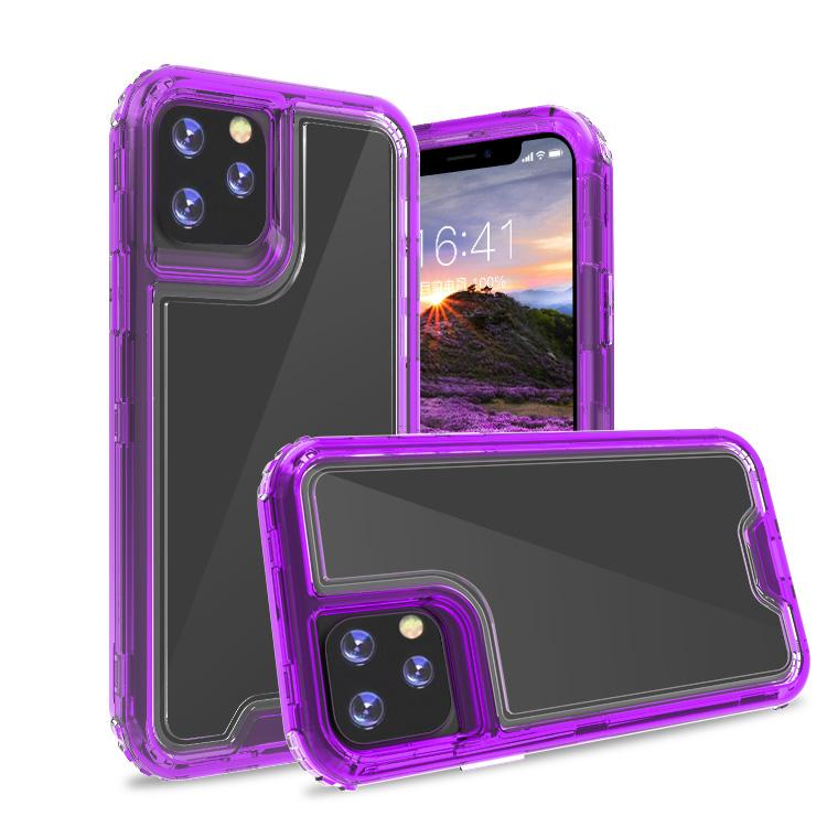 Clear Light Purple Colorful Combo Clear Case