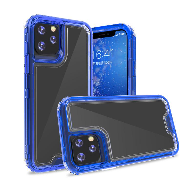 Clear Dark Blue Colorful Combo Clear Case