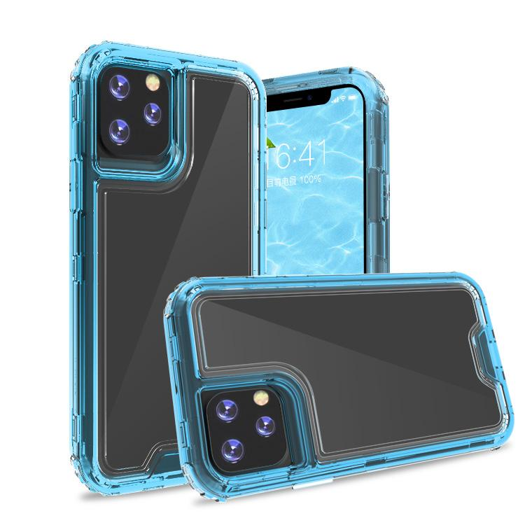 Clear Apple Blue Colorful Combo Clear Case