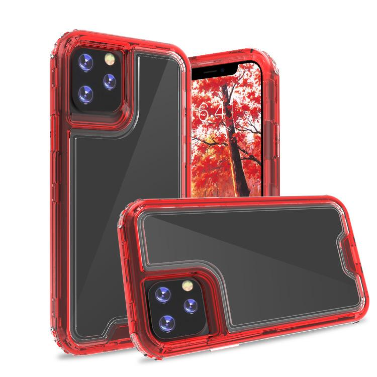 Clear Red Colorful Combo Clear Case