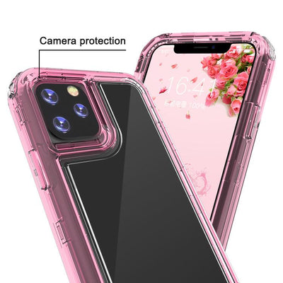 Clear Pink Colorful Combo Clear Case