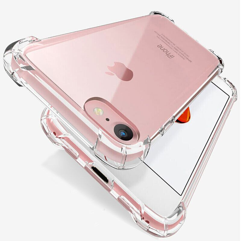 Shockproof Silicone Phone Case For iPhone 7 8 6 6S Plus 7 Plus 8 Plus XS Max XR 11 Case Transparent Protection Back Cover