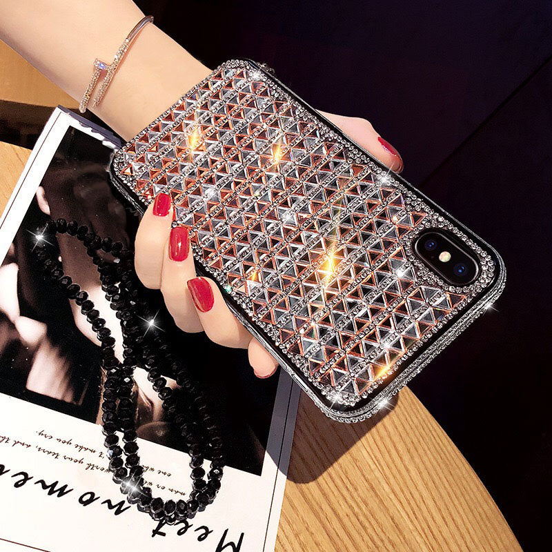 OnePlant Luxury Jewelled Case For Iphone Xs Max Xr X Glitter Diamond Cases For Iphone 6s 7 8 Plus Cover Shiny For Iphone X Case