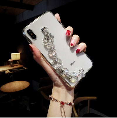 For iphone 11 Case Lady Bling Rhinestone Diamond Bracelet Chain Crystal Case For iPhone 11 Pro MAX XR XS Max 6 6S 7 8 Plus Case