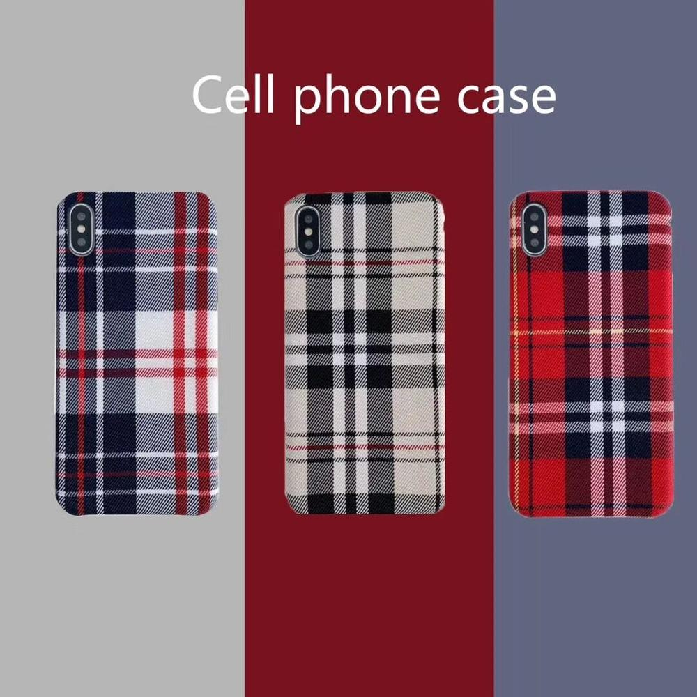 Christmas Warm red Plaid Plush Simple Fabric Cloth Phone Case for iphone 7 8 6 6s Plus 11 Pro Max Xr X Xs Max fashion Back Cover