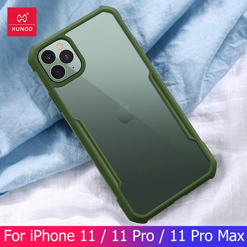 Shookproof Iphone 11 11Pro Max Case  Airbag Protection Bumper Case Mobile Cover Transparent Business