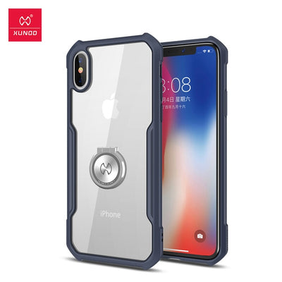 Iphone X XS XR Max Case Clear Soft Transparent Airbag Protection Case Airbag Bumper Design Shookproof Business