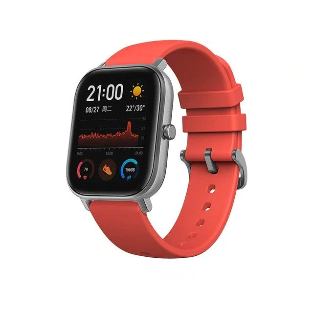 Smart Watch Vermillion Orange Global Version NEW GTS Smart Watch