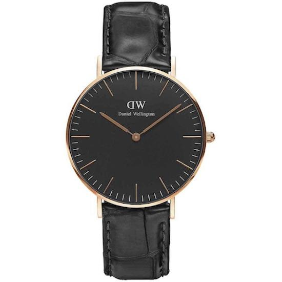 Classic Black Reading sort/guld 36 mm