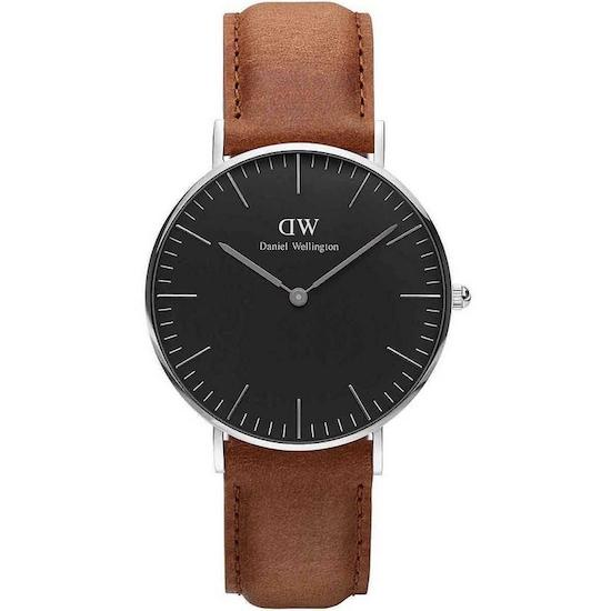 Classic Black Durham DW00100144 sort/sølv 36 mm
