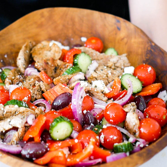 Grilled Pork & Greek Salad