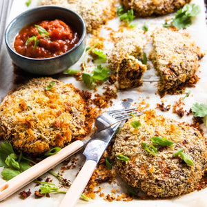 Baked Thai Chicken Burger Patties