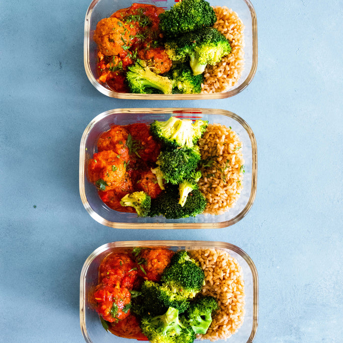 Meatballs with Broccoli and rice - Meal Prep