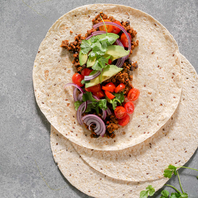 Mexican Salsa wrap with Textured Protein