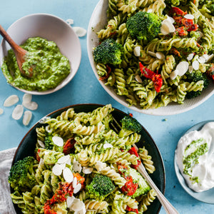 Spicy Creamy Pesto Pasta