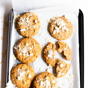 White Choc and Coconut Cookies