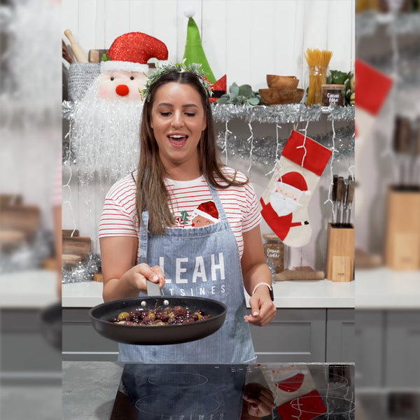 Leah Itsines With Warm Christmas Festive Olives