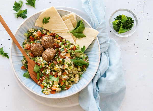 Top 15 BARE Lean Meals to Freeze – Lamb Kofta with Tabouli