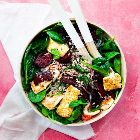 haloumi beetroot salad