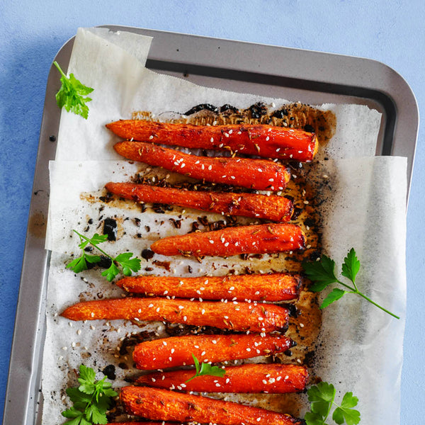 Baked Honey Sesame Carrots