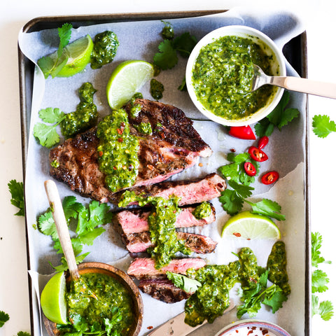 Leah Itsines How to Make Chimmichuri Sauce