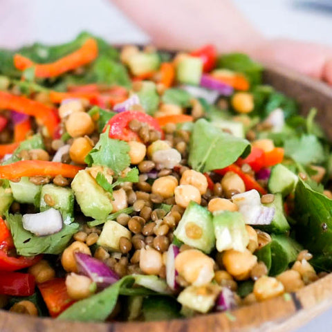 Easy Chickpea and Lentil Salad