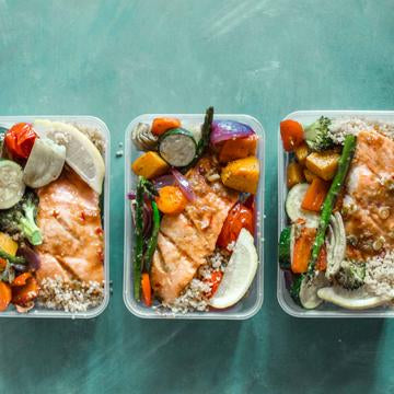 Leah Itsines Honey Salmon Meal Prep