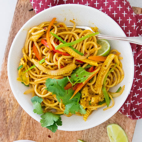 Easy Vegetable Singapore Noodles Recipe