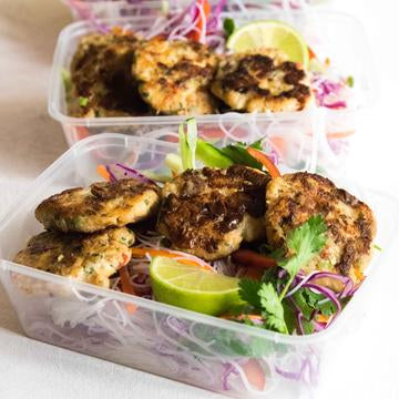 Leah Itsines Fish Cakes Meal Prep