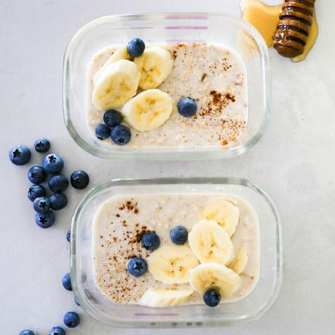 Vanilla, Banana and Blueberry Overnight Oats