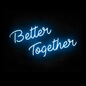 Better together wedding neon sign custom neon sign Blue LED