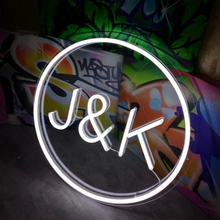 Custom Circle Initials - LED Neon Sign - MK Neon