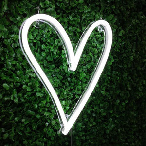 Heart neon sign wedding neon sign white