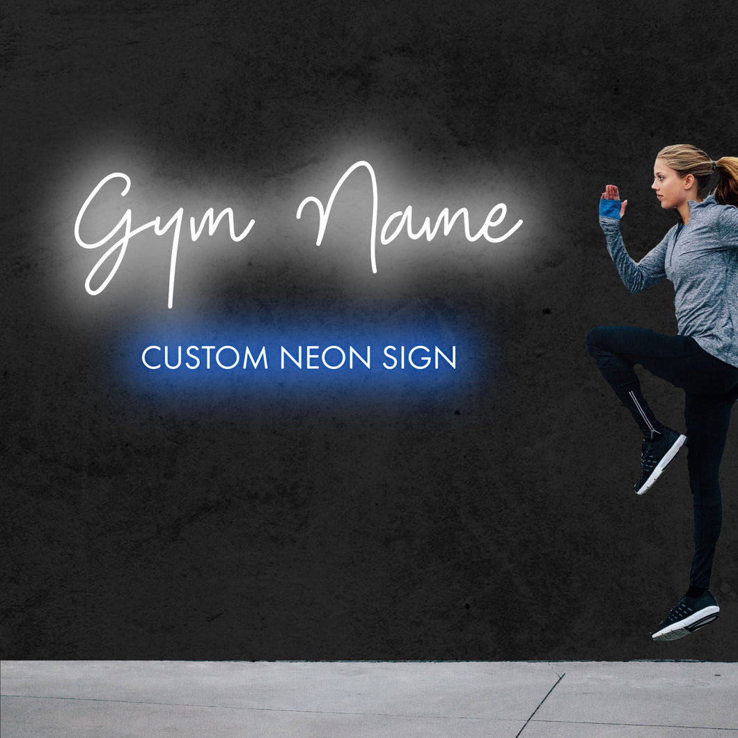 Custom Neon Signs for Gym - MK Neon